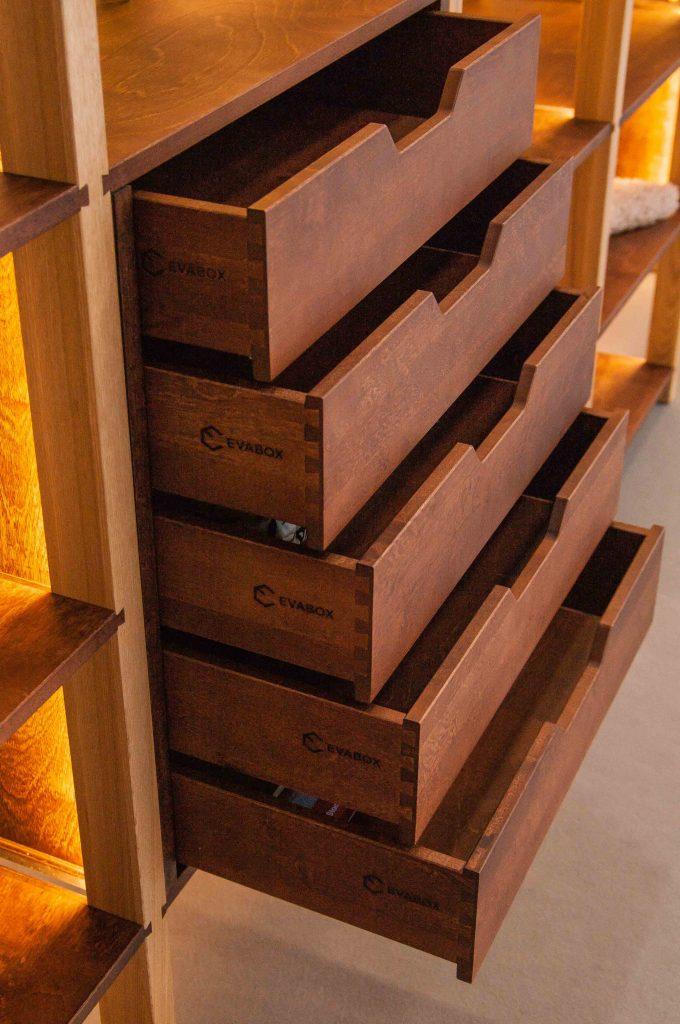 Tiroirs en bois Evabox