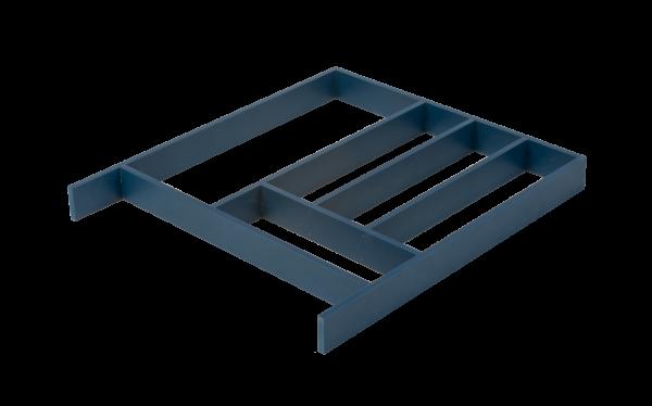 Mėlynas stalčiaus įdėklas virtuvei