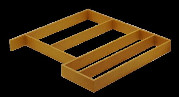 Geltonas stalčiaus įdėklas virtuvei